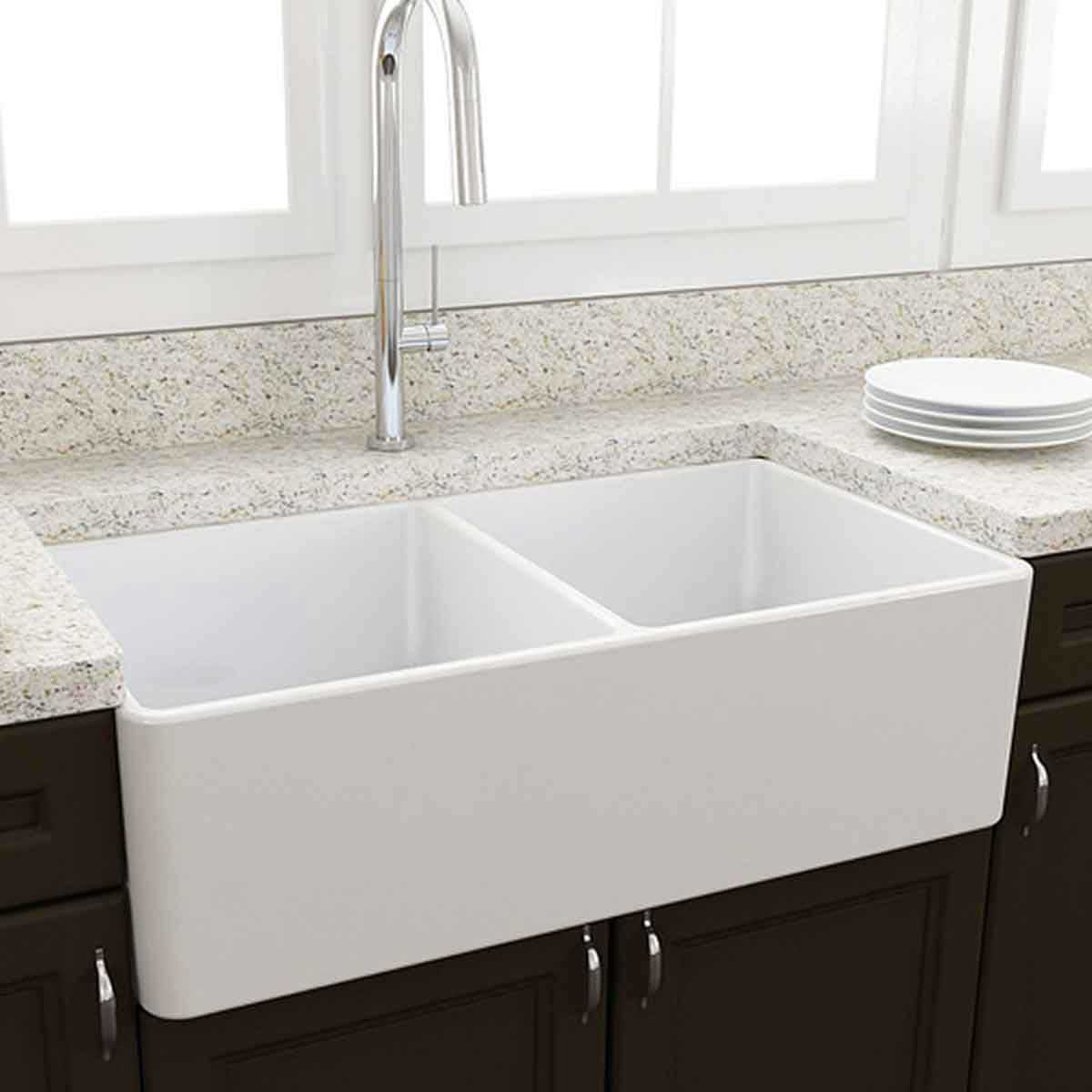 Artisan Double Bowl Fireclay Sink