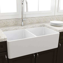 Artisan AFC3302 Double Bowl Fireclay Kitchen Sink