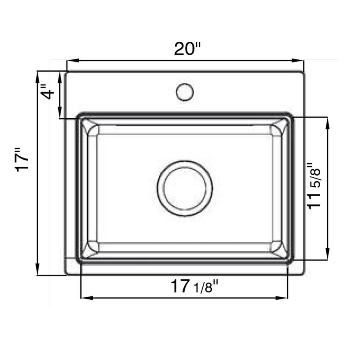 Artisan Composite Single Bowl draw