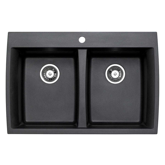 ACDM3302-D108 Artisan Granite Composite Double Bowl Dual Mount Sink