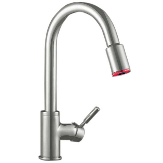 Artisan AF-640-SN Pull-Out Sprayer Faucet with Satin Nickel Finish