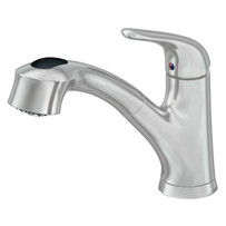 Artisan Pull-Out Spray Handle Satin Nickel Kitchen Faucet