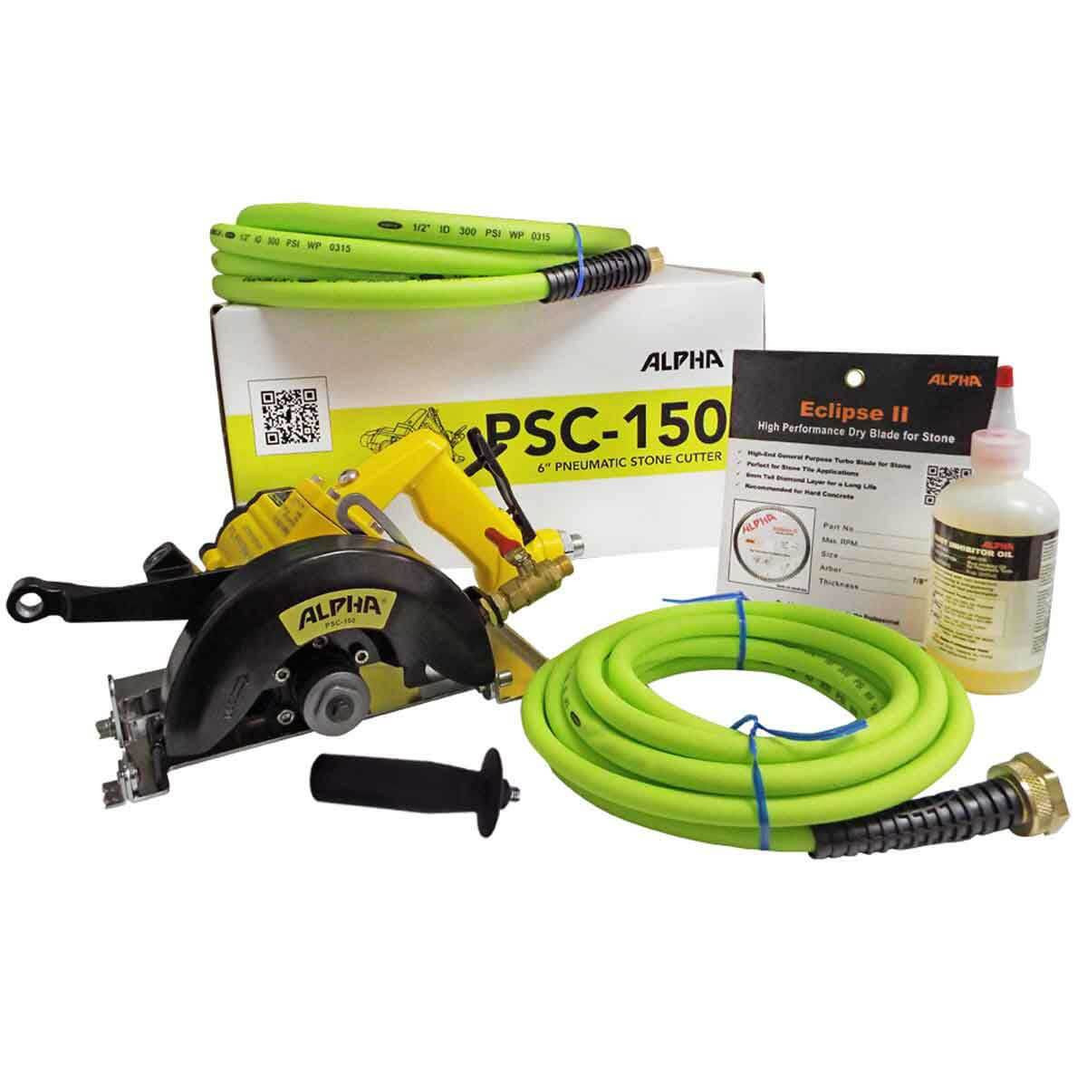Alpha PSC-150 Pneumatic Stone Cutter components