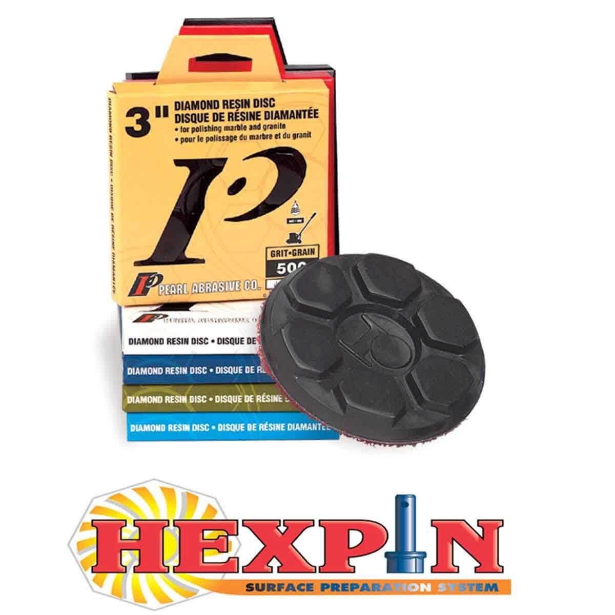 Pearl Abrasive Hexpin Diamond Disc
