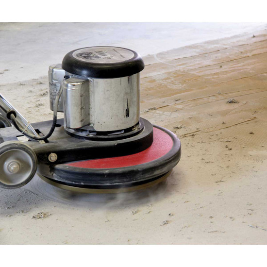 Pearl Abrasive Scrape and Grind Diamond Pads on Floor Machine