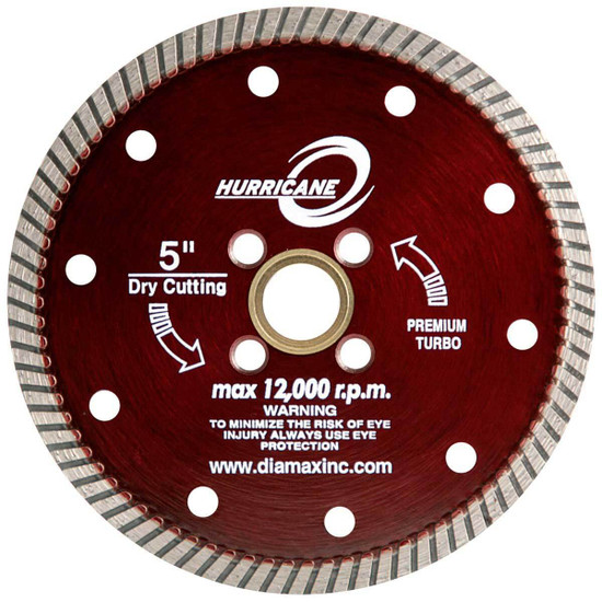 Diamax Hurricane dry cutting Granite Turbo Blade
