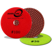 Diamax Hurricane 4 inch Wet Polishing Pads RE Series