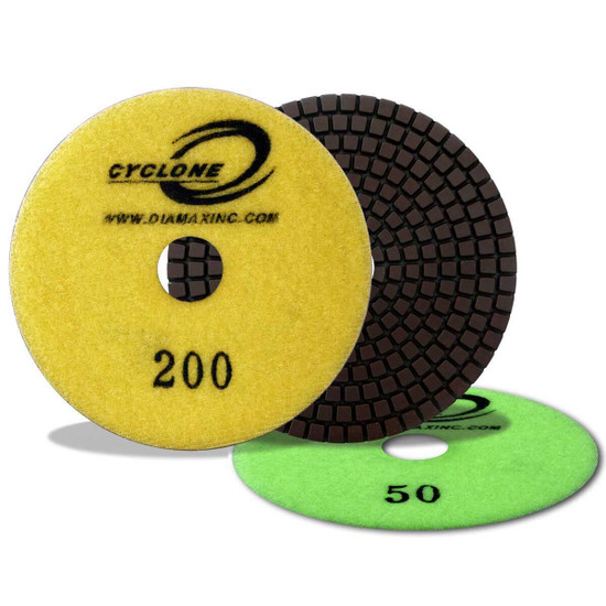 Diamax Cyclone 4 inch Wet Polishing Pads