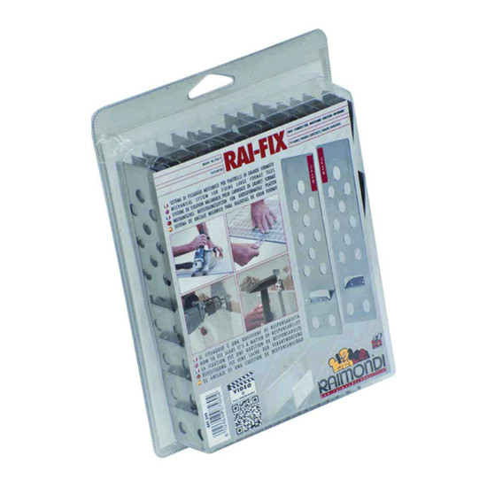raimondi mechanical safety system which prevents the tile slab to fall down in the event of detachment of the adhesive