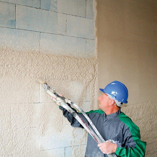 Spraying Walls with Imer KOINE 35