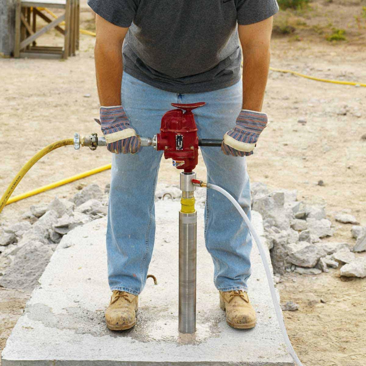 Chicago Pneumatic heavy Core Drill