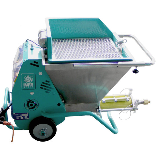 Imer Small 50 Spraying Machine with Optional Vibrating Hopper