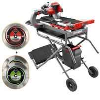 Rubi DT250 tile saw and blade package