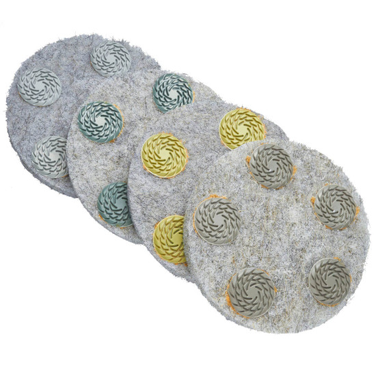 Set of Husqvarna Flex Dry Polishing Pads