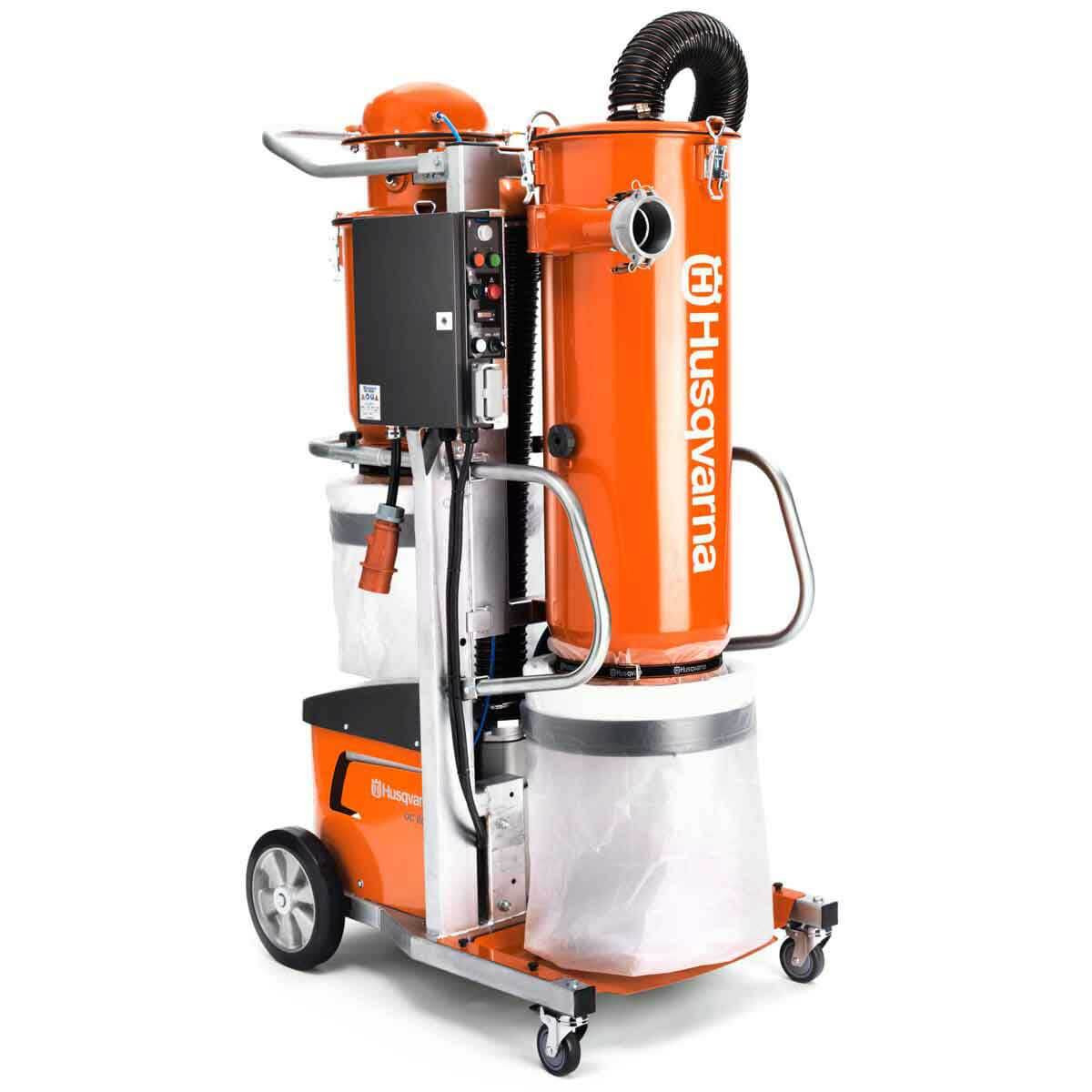 Husqvarna industrial vacuum side