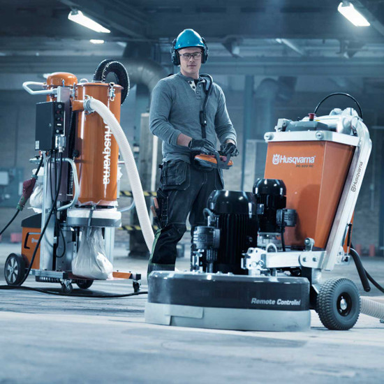 Husqvarna Remote Controlled Grinder with DC6000 Vacuum