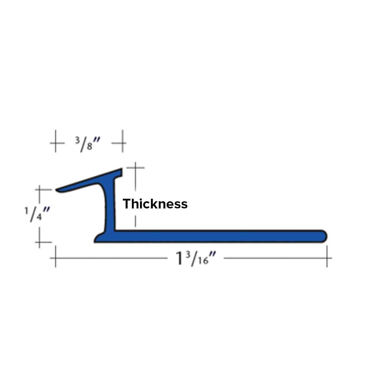3/8th Inch Thick Aluminum Carpet Trim