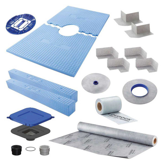 170134 USG Durock Pre-Sloped Center Drain Shower Kit