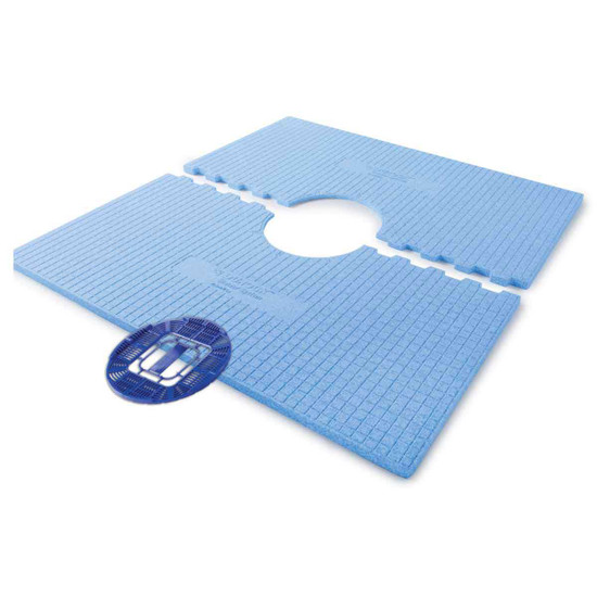 170141 48x48 USG Durock Pre-Sloped Shower Tray