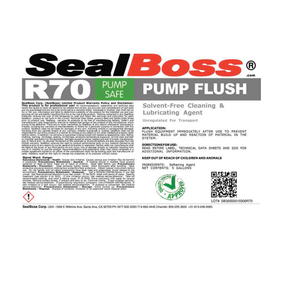 Seal Boss R70 Pump Flush BR70-5
