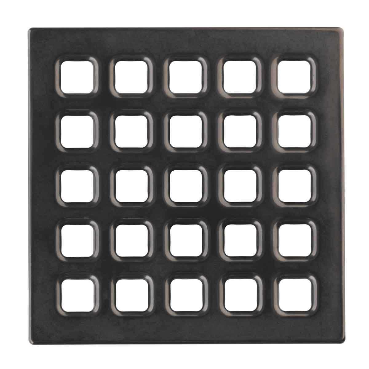 Black Chrome Durock Pro Series 4 inch Grate 170157