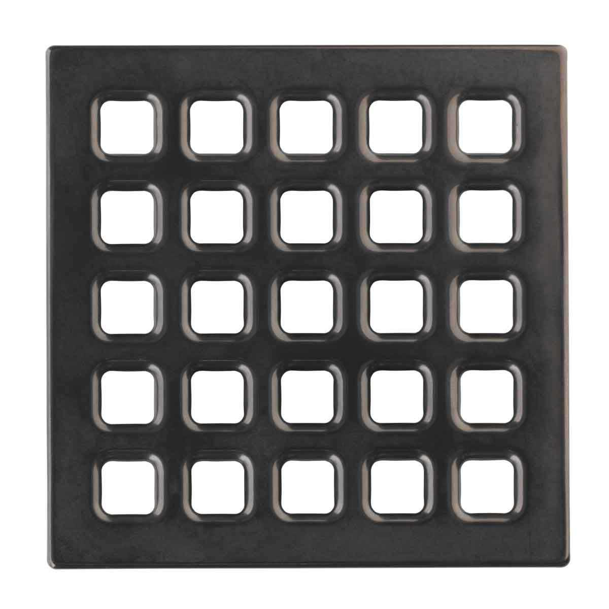 Black Chrome Durock Pro Series 4 inch Grate 170157