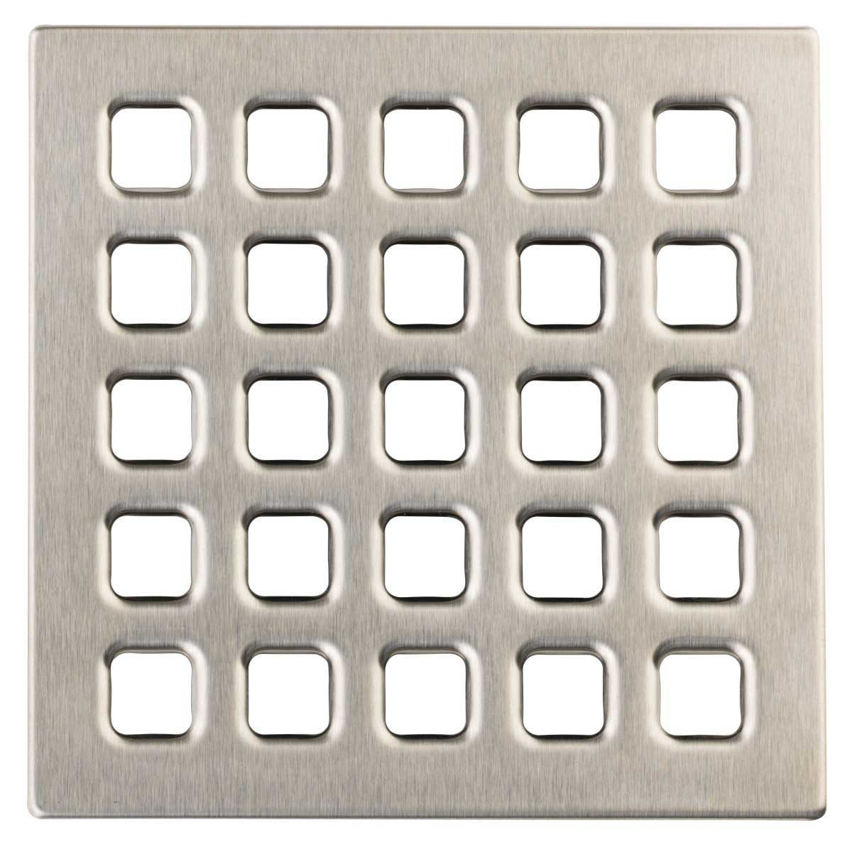 Brushed Nickel Durock Pro Series 4 inch Grate 170154