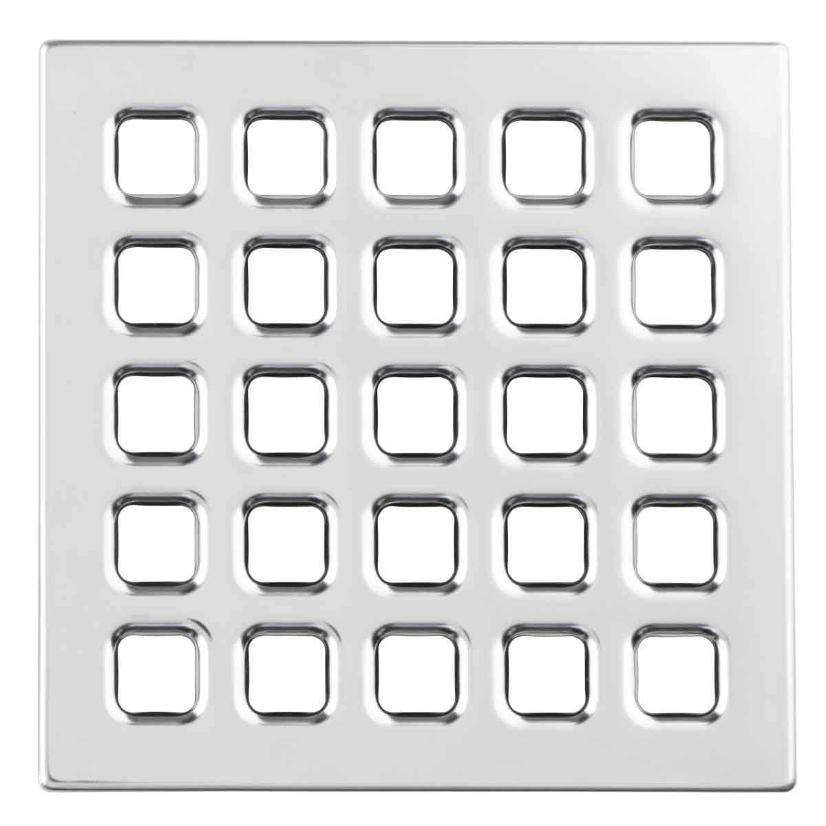 Chrome Durock Pro Series 4 inch Grate 170153