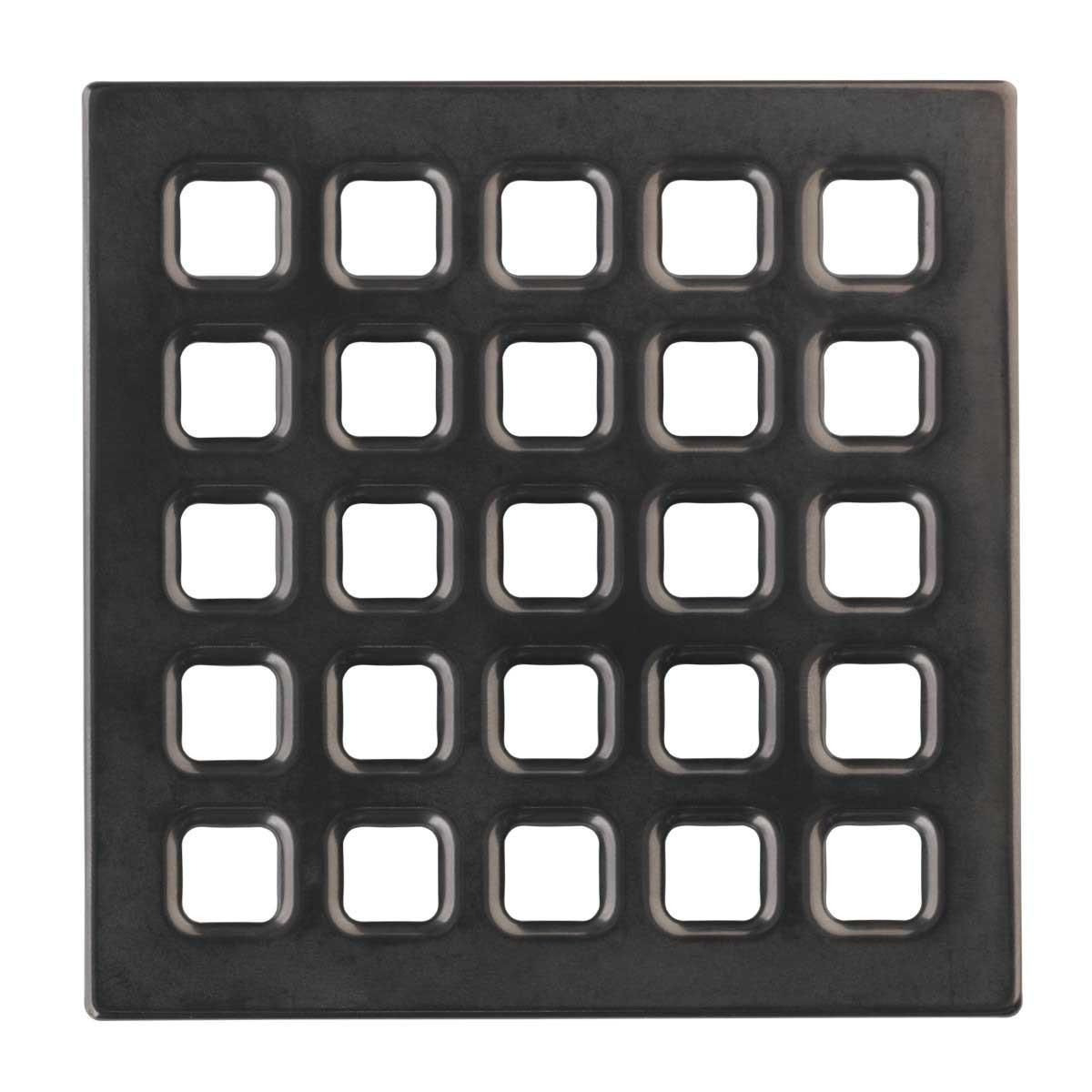 Black Chrome USG Durock Pro Series 5 inch Grate 170170