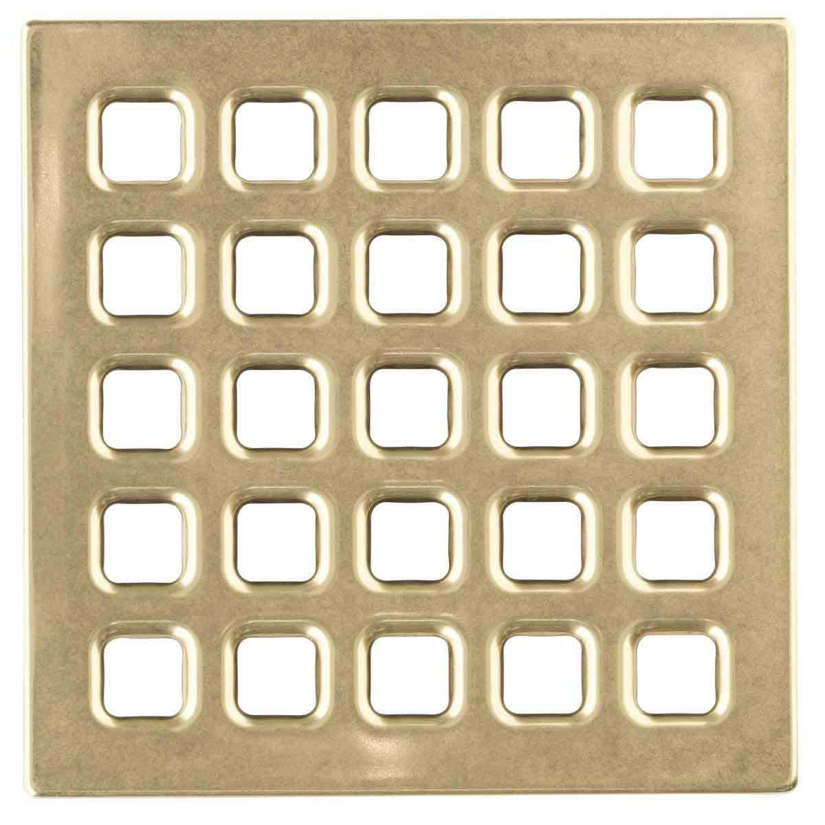 Polished Gold USG Durock Pro Series 5 inch Grate 170177