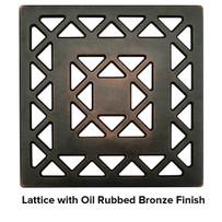 USG 4 inch Shower Grate Bronze Lattice