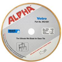 alpha 10in vetro glass diamond blade