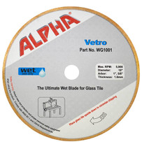 alpha 10in vetro glass diamond blade