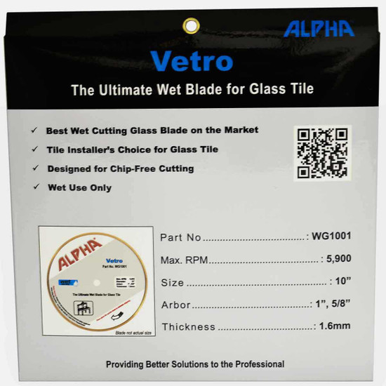 alpha wet glass cutting blade for your portable rail saw