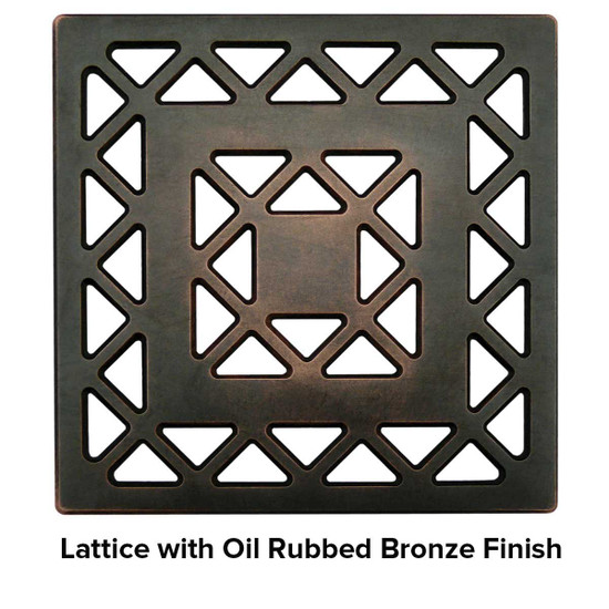 USG 5 inch Shower Grate Bronze Lattice