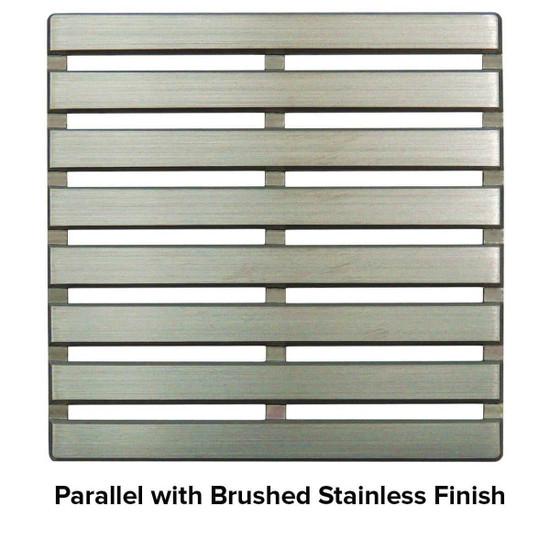 USG 5 inch Shower Grate Brush SS Parallel