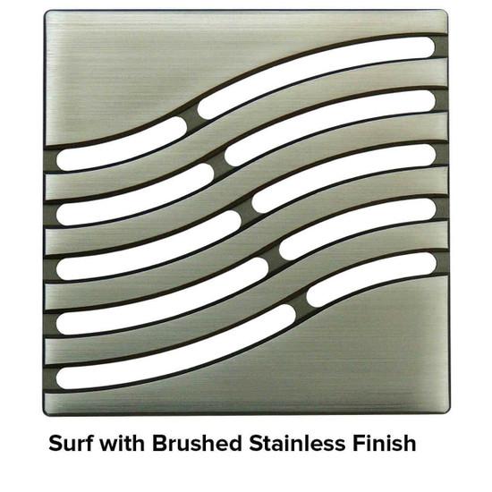USG 5 inch Shower Grate Brush SS Surf