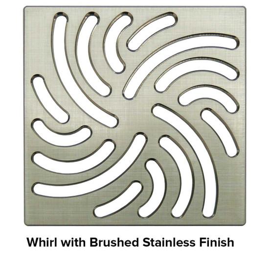 USG 5 inch Shower Grate Brush SS Whirl