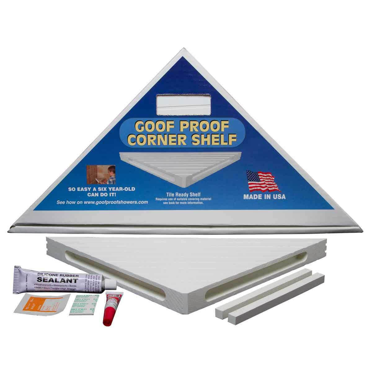 Mark E. Industries Goof Proof Corner Shelf