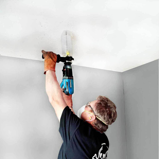 Drilling Ceiling with EcoGuard Type D Dust Cover