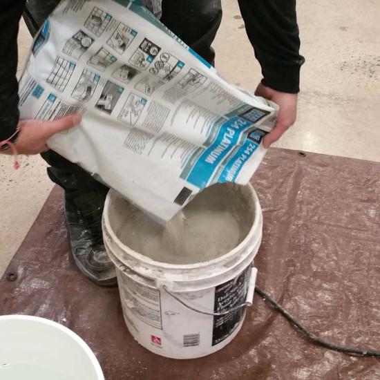 laticrete polymer-fortified mortar