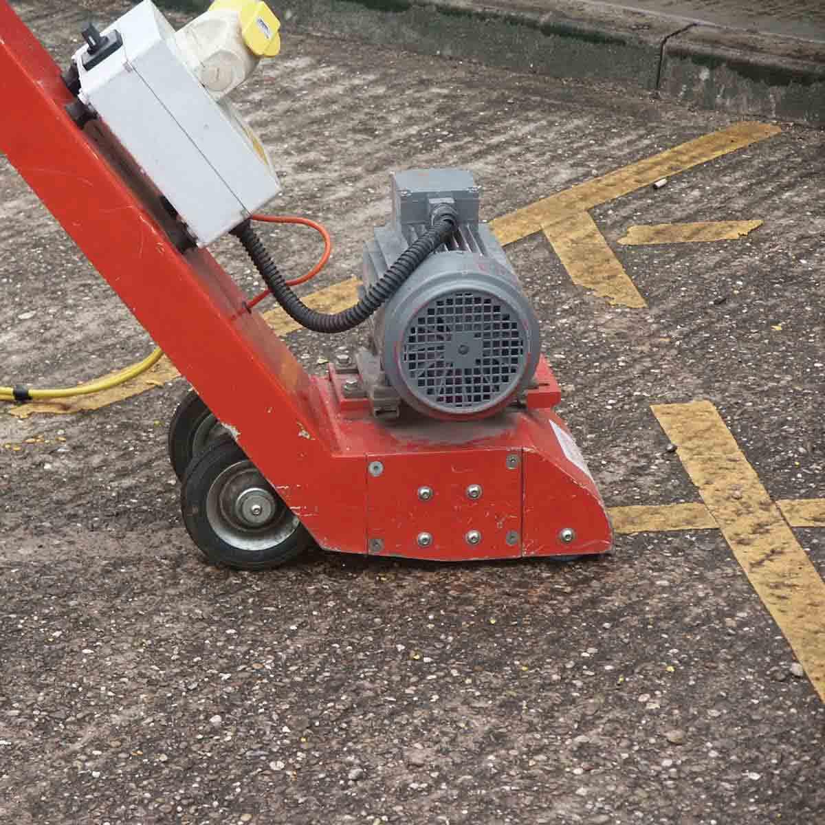 CS Unitec Floor Scarifiers parking