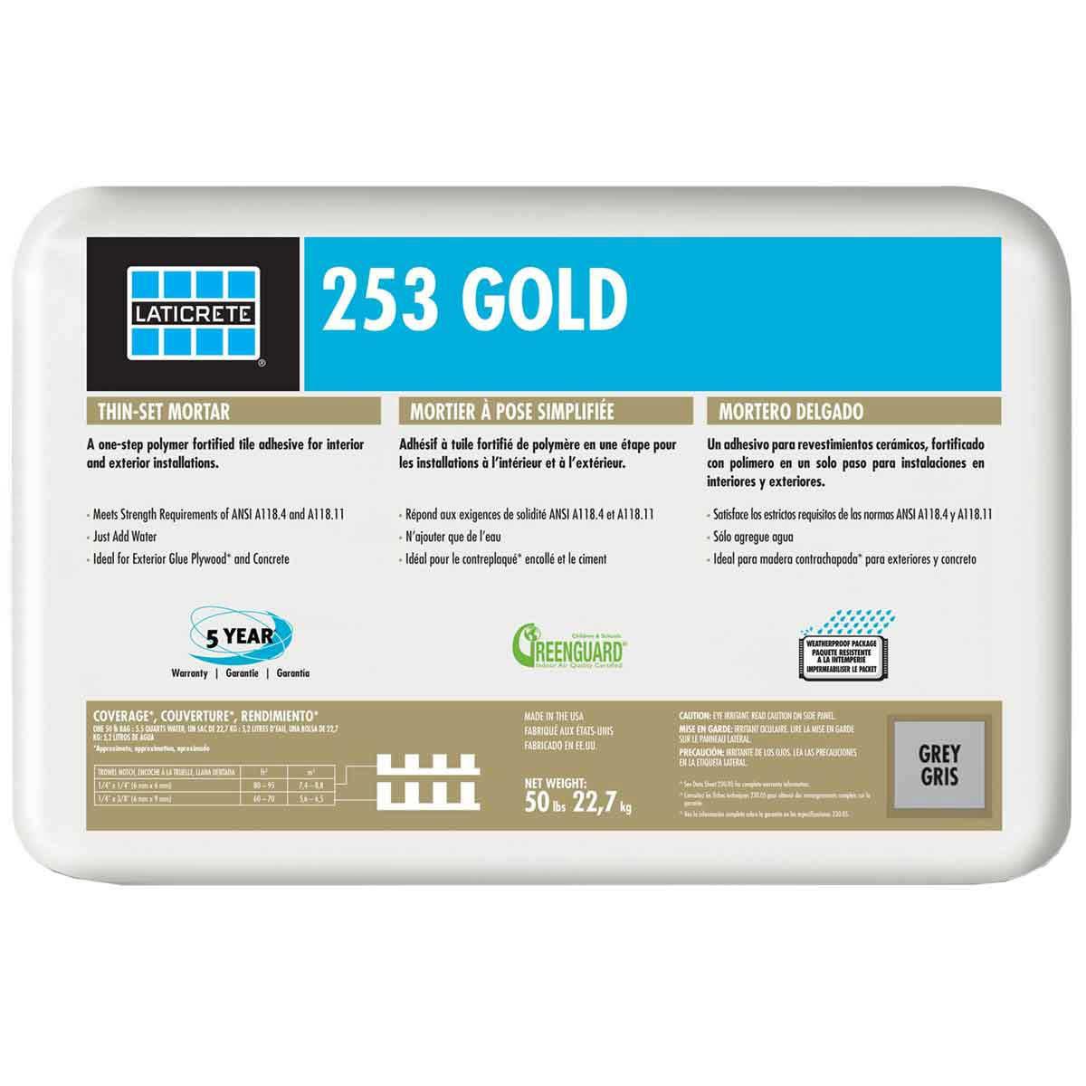 Laticrete 253 Gold Grey Thin-set 0253-0050-21