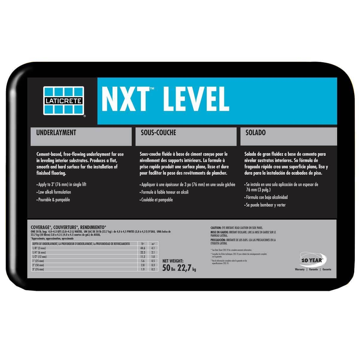Laticrete NXT Level Underlayment 0900-0050-21