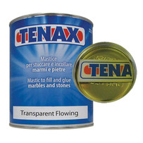 Tenax Transparent Flowing Polyester Mastic Adhesive is a premium liquid glue that offers many characteristics that fabricators look for in a flowing grade glue