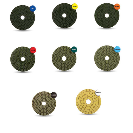 Rubi 4 inch Wet Polishing Resin Pads