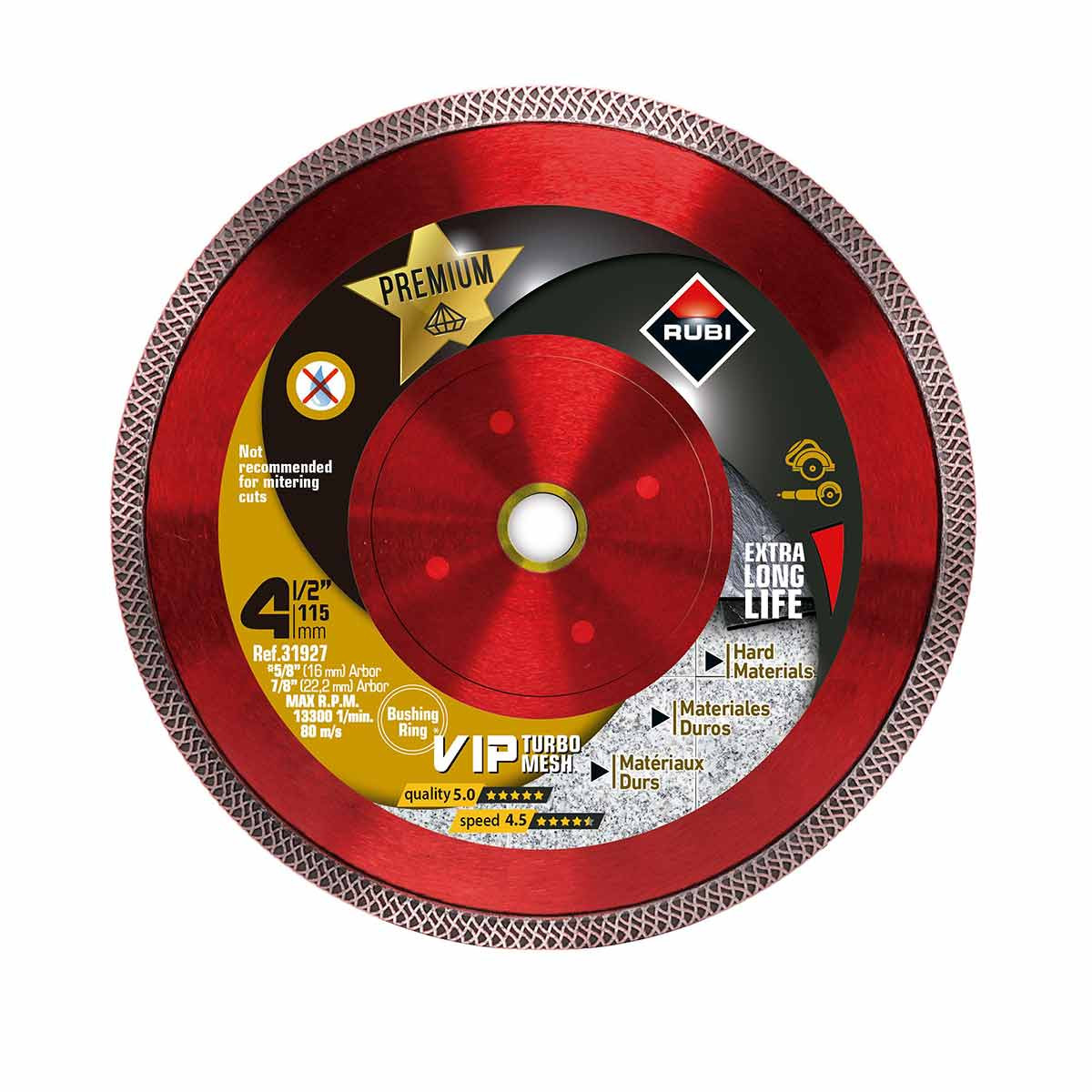 rubi viper 4 1/2in diamond blade