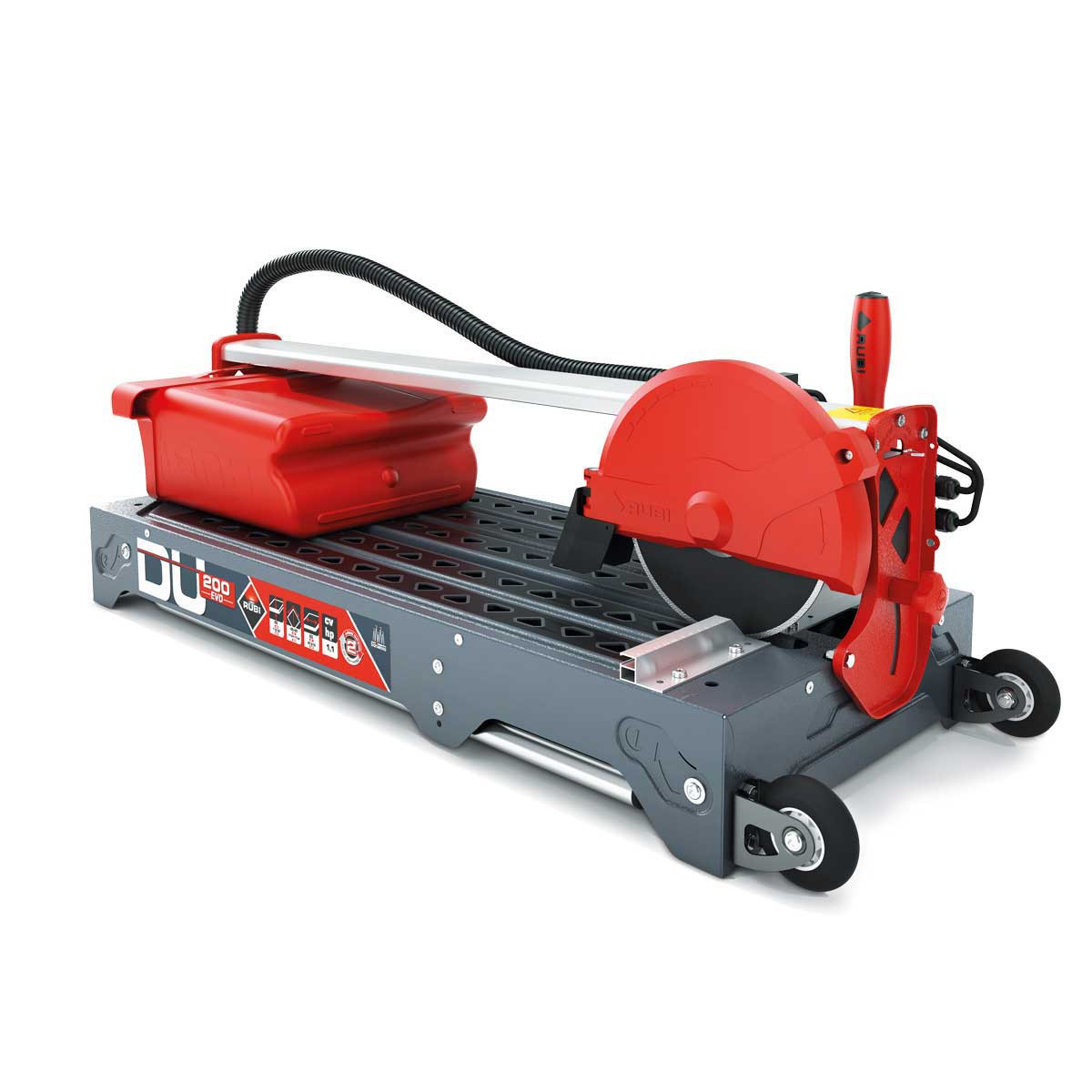 Rubi DU-200 EVO Tile Saw collapsible legs with wheels