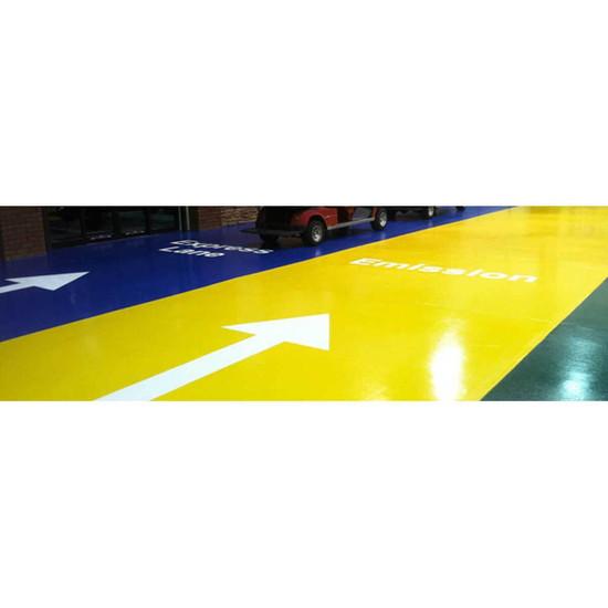 Polyaspartic Pigment Floor