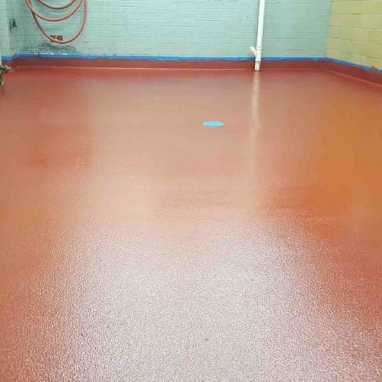 Laticrete Red Epoxy Floor